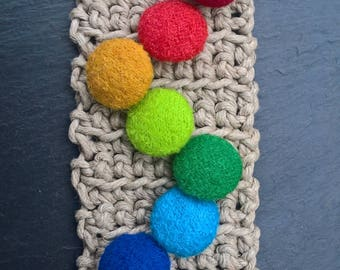 boiled wool button