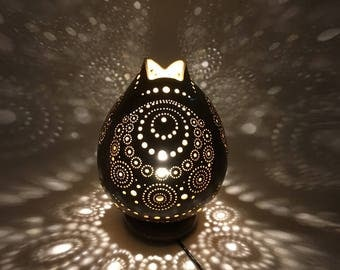 "Pumpkin lamp ""Beads"" lamp, calabashes lamp, Gourd"