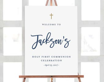 First Communion Welcome Sign | OR Baptism Sign | Custom Digital File