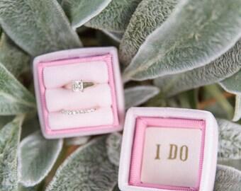 Embossed Inner Satin Paper Ring Box Lid Liner, Initials, Heart, Acorn, Flower For Proposals, Weddings, Themed Weddings