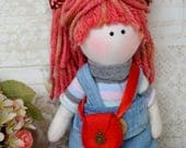 Lucy Handmade collectable Lindy doll toy Russian dolls hand stitched personalise cloth craft