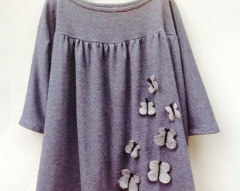 Knitted cotton dress for girl-Cecibirbona