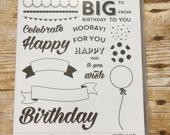 Birthday Brights photopolymer stamp set from Stampin'Up!