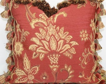 Luxurious traditional chenille pillow