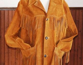 Vintage Fringed Leather Jacket - Pioneer Wear Bronwn Fringed Jacket