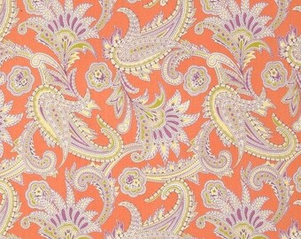 SALE SALE SALE Turkish Paisley by Amy Butler 100% cotton.  Gypsy Caravan  Westminster fibers, quilters cotton, fabric by the yard, coral lav
