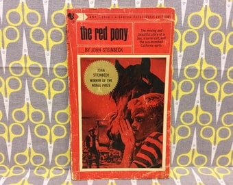 The Red Pony by John Steinbeck paperback book vintage