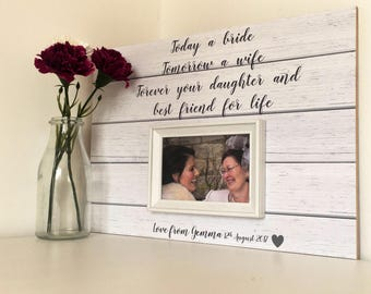 Wedding Thank You Gifts For Parents Uk : ... Gift -Wedding Gift For Mom - Custom Wedding Frame - Parents Thank You
