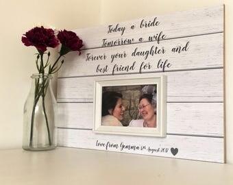 ... Gift -Wedding Gift For Mom - Custom Wedding Frame - Parents Thank You
