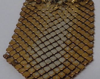 Gold  Tone Mesh Brooch