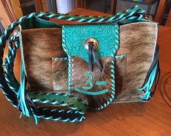 Custom Conceal Carry Cowhide Purse