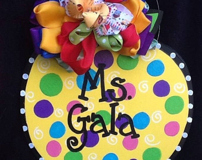 Teacher apple sign, candy apple sign, candy apple door sign, teacher door sign, back to school sign, apple door sign, apple sign, halloween