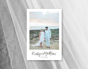 Thank You Cards Wedding Photo Card Digital Download Printable