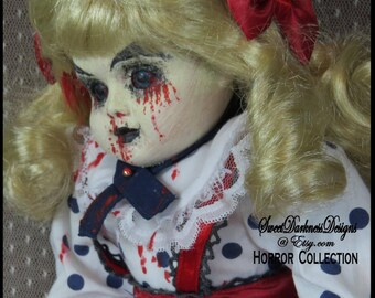 Gothic HORROR Doll MUSICAL Bleeing Doll