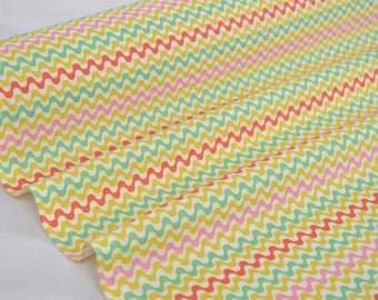 """""""Coral Mint Tulio"""" fabric 100% cotton sold in multiples of 10cm"""