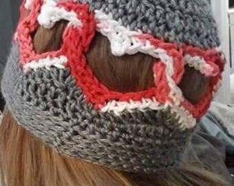 Crochet heart hat, heart beanie,