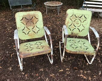 Vintage Metal Outdoor Furniture Etsy