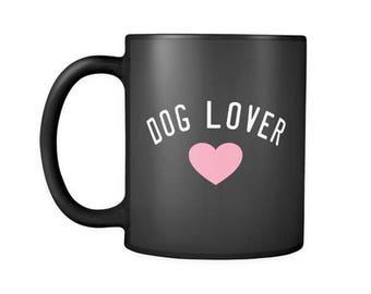Dog Lover Black Coffee Mug, Dog Ceramic Coffee Mugs, Funny Coffee Mug, Dog lover gift Cup Mug