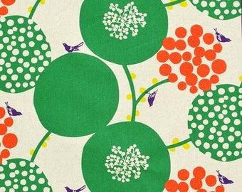Big Berry Green - Echino by Kokka Cotton Canvas Fabric Fat Quarter