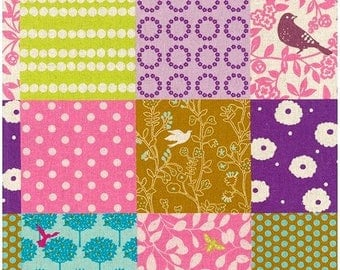 Story in Pink - Echino by Kokka Cotton Canvas Fabric Fat Quarter