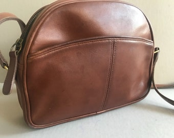 COACH Style Leather Handbag Light Brown Crossbody 0137-023 Made in the US