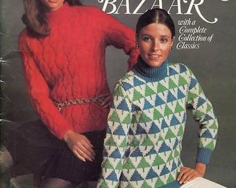 Eclipse SALE 1960s 1970s Sweater Bazaar Knitting Pattern Book Columbia Minerv Book 771