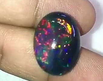 Natural Fire Black Opal 12.13ct