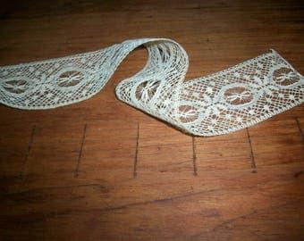 Antique french lace beading ivory