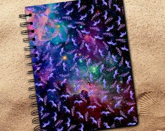 Galaxy Unicorn Journal Gift/Pastel Rainbow Unicorn Notebook/Rainbow Believe In Unicorns Fantasy Spiral Journal Diary Gift/Be A Unicorn Book