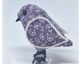 Light Mauve Bird, 3d stuffed bird