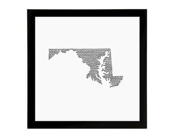 Maryland State Love Art Print