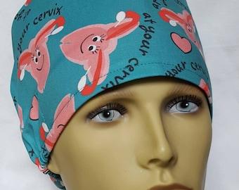 cervix uterus  Surgical scrub hat operating room hat theatre cap pixie GYN anatomy sweatpad