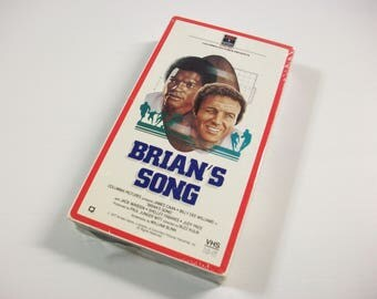 Vintage Brian's Song VHS Tape, James Caan Billy Dee Williams Drama, Brian's Song Cassette Tape, Football Movie
