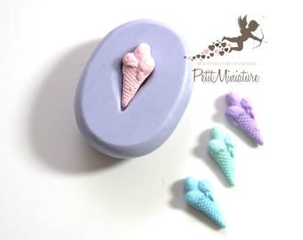 ICE CREAM MOULD 2.0 cm flexible silicone 3d Gelato miniature dollhouse charm kawaii polymer clay jewelry soap resin plaster  ST323