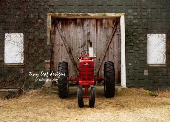 Farmall Tractor Barn Doors Shaw Farm Original Photography 5x7 8x12 11x16 print 8x12 12x18 Standout