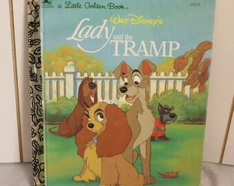 "Vintage Children's Book Walt Disneys ""Lady and the Tramp"" 1991 A Little Golden Book Childrens Book"