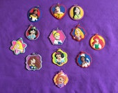 12 Disney Princesses PVC Kids Necklaces, Party Favors