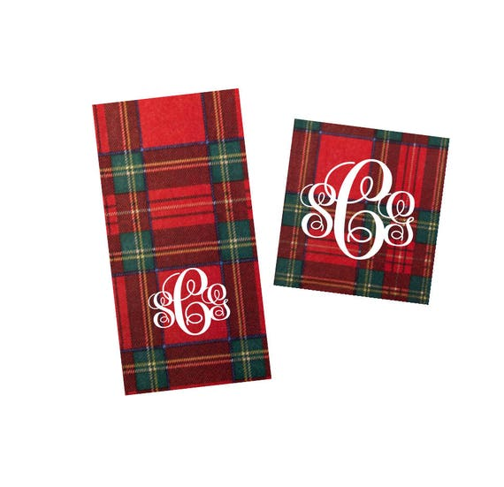 Christmas napkins, Holiday napkins, Plaid napkins, festive napkins, holiday guest towels, Christmas decor, holiday hostess gift