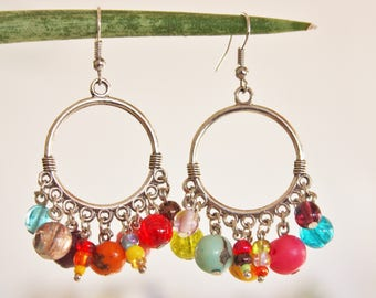 """Spirit Latino"" hoop earrings"