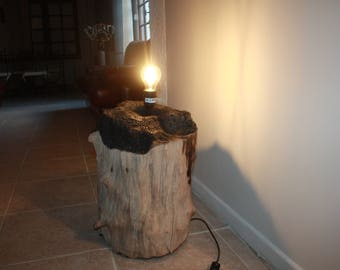 lighting, end table, industrial