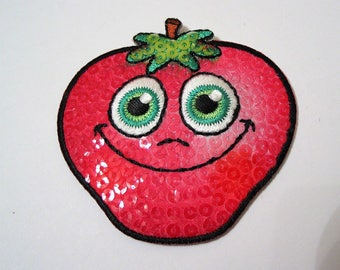 Applying fusible coat pattern strawberry, pink color