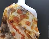 Ecoprint Wool Shawl