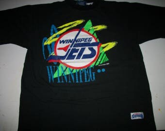 WINNIPEG JETS hockey team shirt 1990