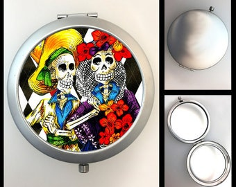 Compact Mirror Day of the Dead Couple #217