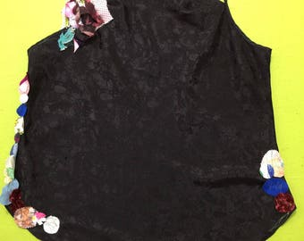 Embellished plus size lingerie top black cami camisole 2x   2xl   22w