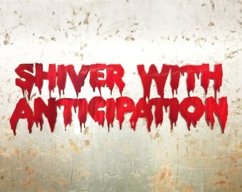 "Rocky Horror ""Shiver With Anticipation"" Metal Wall Art"