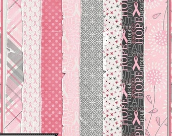 On Sale 50% Breast Cancer Awareness, I Am A Warrior Digital Scrapbooking Kit, Worn Papers and Backgrounds