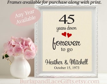 45th anniversary Gift for Wife Gift for Husband Gift to Wife Git to Husband 45th anniversary gift to Wife Gift to Her Gift for Her (208)