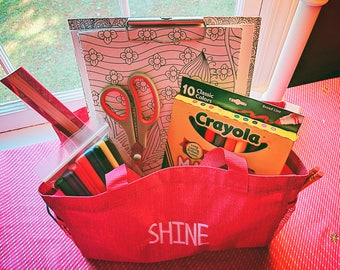 SHINE Bag: Create + Color Gift Bag with Artsy Accessories in a Premium Tote, Includes Colored Pencils, Markers, Crayons, More, and SHIPPING