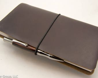 CLEARANCE - Traveler's Notebook - Dark Brown Horween Chromexcel